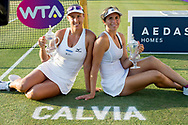 Andreja Klepac (SLO) and María José Martínez Sánchez (ESP) after winning the Mallorca Open at Country Club Santa Ponsa on June 22, 2018 in Mallorca, Spain. Photo Credit: Katja Boll/EVENTMEDIA.