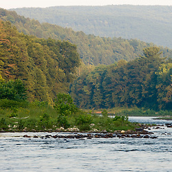 A hazy summer evening on the West River in Dummerston, Vermont.