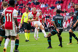 Perr Schuurs of Ajax in action during eredivisie round 02 between Ajax and RKC at Johan Cruyff Arena on September 20, 2020 in Amsterdam, Netherlands