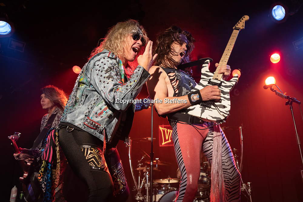MICHAEL STARR (L) and SATCHEL of Steel Panther at the Viper Room in Los Angeles, California