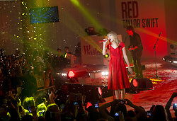 Taylor Swift performs at Westfield shopping centre in London and switching on their Christmas lights, Tuesday, November 6th 2012. Photo By i-Images