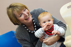 """© under license to London News Pictures. LONDON, UK. 25/02/14 Harriet Harman has said she """"regrets"""" that a civil liberties group she used to work for had links to pro-paedophile campaigners in the 1970s and 1980s. FILE PICTURE DATED 14/11/2012 . Manchester , UK . The Deputy Leader of the Labour Party , HARRIET HARMAN , plays with a child at a Sure Start centre at Manchester Town Hall , today (Wednesday 14th November 2012) . Harriet Harman joins Lucy Powell who is standing for the constituency of Manchester Central in the city's upcoming by-election . Photo credit : Joel Goodman/LNP"""