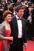 Mme Vassiliou and Thomas Vinterberg at the The Coen brother's new film 'Inside Llewyn Davis' red carpet gala screening at the Cannes Film Festival Sunday 19th May 2013