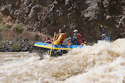 Rafters come out of a wave on the Rio Grande River