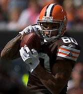 COPYRIGHT DAVID RICHARD.Cleveland tight end Kellen Winslow pulls in a 25-yard touchdown pass from Derek Anderson in the second quarter..The Cleveland Browns defeated visiting Cincinnati 51-45, Sunday, September 16, 2007..