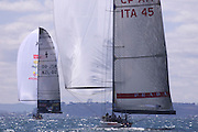 Team New Zealand, NZL60 and Lunna Rossa ITA45. America's Cup 2000
