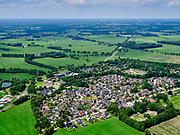 Nederland, Overijssel, Gemeente Raalte; 21–06-2020; Nieuw Heeten, Sallands dorp, gelegen op de grens van de Sallandse heuvelrug.<br /> Nieuw Heeten, Sallands village, located on the border of the Sallandse ridge.<br /> <br /> luchtfoto (toeslag op standaard tarieven);<br /> aerial photo (additional fee required)<br /> copyright © 2020 foto/photo Siebe Swart