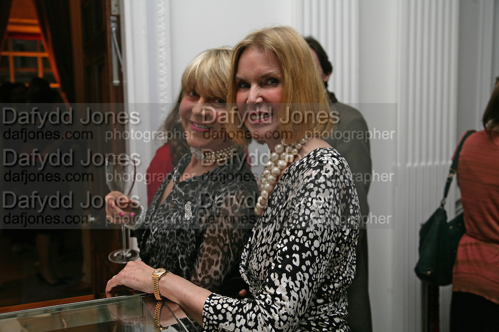 Rosie Marchioness of Northampton and Lady Stewart, Garrard Colour And Cocktail Party, Garrard, 24 Albemarle Street, London. 10 May 2007. -DO NOT ARCHIVE-© Copyright Photograph by Dafydd Jones. 248 Clapham Rd. London SW9 0PZ. Tel 0207 820 0771. www.dafjones.com.