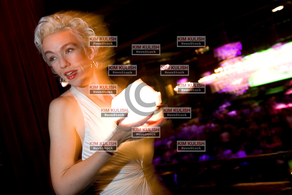 """Xeni Jardin is famous Los Angeles blogger, tech journalist and artist recently  nominated for a WIRED magazine award for creating a blog for an NBC reporter during his Iraq assignment.  Photo was taken at """"The Fillmore"""" during the Wired Rave Awards Feb 22, 2005. Photo by Kim Kulish"""