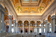 The Library of Congress is the research library of the United States Congress, de facto national library of the United States, and the oldest federal cultural institution in the United States. Located in three buildings in Washington, D.C., it is the largest library in the world by shelf space and number of books. The head of the Library is the Librarian of Congress, currently James H. Billington.  Seen here is the Great Hall.
