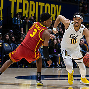 Feb 16  2019  Berkeley, CA  U.S.A.  California forward Justice Sueing (10) brings the ball up court during the NCAA Men's Basketball game between University of Southern California Trojans and the California Golden Bears 66-89 lost at Hass Pavilion Berkeley Calif. Thurman James / CSM