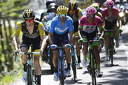 July 19, 2018 - Alpe D Huez, France - ALPE D'HUEZ, FRANCE - JULY 19 : KRUIJSWIJK Steven (NED) of Team Lotto NL - Jumbo, VALVERDE Alejandro (ESP) of Movistar Team during stage 12 of the 105th edition of the 2018 Tour de France cycling race, a stage of 175.5 kms between Bourg-Saint-Maurice Les Arcs and Alpe D'huez on July 19, 2018 in Alpe D'huez, France, 19/07/2018 (Credit Image: © Panoramic via ZUMA Press)