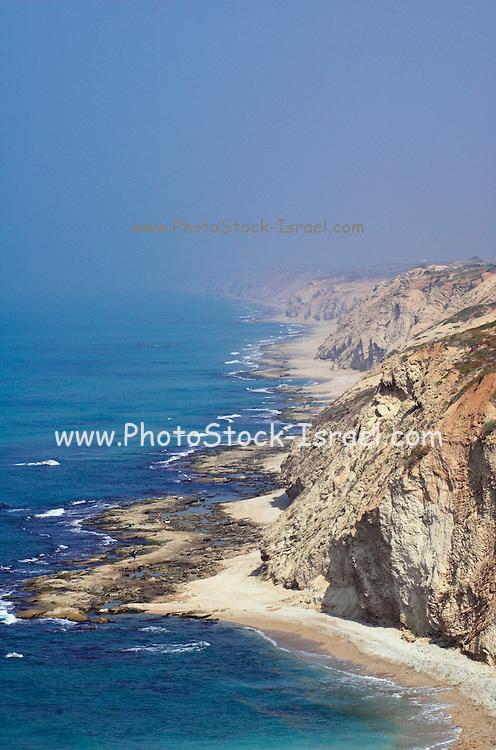 Israel, Hertzelia, Cliffs of the Mediterranean sea