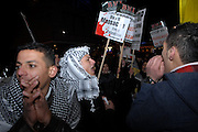 London 04/01/09: Protests outside the Israeli Embassy in London UK: Protests went on later than planned