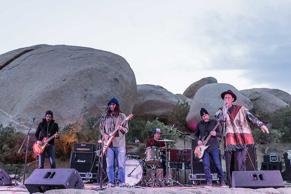 Music Photographer Raymond Rudolph documents desert rockers Brant Bjork and Sean Wheeler play a concert at Stoned and Dusted in Joshua Tree