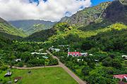 Catholic Church, Omao, Fatu Hiva, Marquesas, French Polynesia, South Pacific