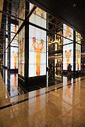 Hotel Lobby columns at the Cosmopolitan Hotel, Casino and Resort, Las Vegas, Nevada