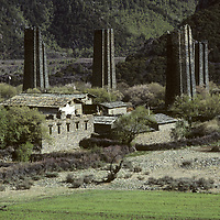 TIBET, China. Ancient fort in southeastern Tibet.
