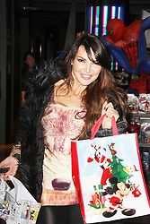 Lizzie Cundy, Disney Store - Christmas Party, Oxford Street, London UK, November 06 2013 (Photo by Brett D. Cove) © Licensed to London News Pictures.  Photo credit : Brett D. Cove/Piqtured/LNP