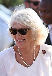 The Duchess of Cornwall visits Commonwealth War Graves in Accra, Ghana, on day three of the royal couple's trip to west Africa.