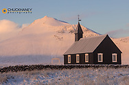 Budir black church on the Snaefellsnes peninsula in western Iceland