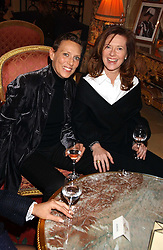 Left to right, SARA CARELLO and MELISSA KNATCHBULL at a ladies lunch in aid of the NSPCC held at The Ritz, Piccadilly, London on 7th March 2006.<br /><br />NON EXCLUSIVE - WORLD RIGHTS