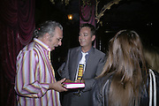 Big George and Julian Clary  , Book launch for Julian Clary's ' Murder Most Fab ',Simon Drake's House of Magic 9 Chapter Road, Kennington SE17. 14 August 2007.  -DO NOT ARCHIVE-© Copyright Photograph by Dafydd Jones. 248 Clapham Rd. London SW9 0PZ. Tel 0207 820 0771. www.dafjones.com.