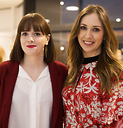 21/02/2018 REPRO FREE  The 2018 Irish Fashion Innovation Awards was launched at Monaghans & Sons Ltd showrooms.<br /> <br /> The 2018 Irish Fashion Innovation Awards take place on March 22nd at The Galmont Hotel & Spa, Galway<br /> At the stylish launch was attended by designer Michelle Kearns from Tuam and Trish O'Sullivan , Goldenegg Photo:Andrew Downes, XPOSURE