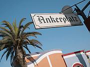 Signpost in Swakopmund, Namibia