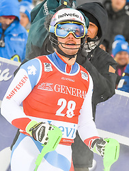13.11.2016, Black Race Course, Levi, FIN, FIS Weltcup Ski Alpin, Levi, Slalom, Herren, 2. Lauf, im Bild Luca Aerni (SUI) // Luca Aerni of Switzerland  reacts after his 2nd run of mens Slalom of FIS ski alpine world cup at the Black Race Course in Levi, Finland on 2016/11/13. EXPA Pictures © 2016, PhotoCredit: EXPA/ Nisse Schmidt<br /> <br /> *****ATTENTION - OUT of SWE*****