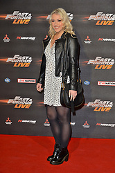 © Licensed to London News Pictures. 19/01/2018. London, UK. AMELIA LILY attends the world premiere of Fast & Furious live show at the O2. Cars will perform stunts and scenes capturing the spirit of the film series. Photo credit: Ray Tang/LNP
