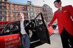 UNITED KINGDOM LONDON 2JUN09 - Michel Parmigiani, president of Parmigiani Fleurier SA rides exits London black cab in South Kensington, central London...jre/Photo by Jiri Rezac..© Jiri Rezac 2009