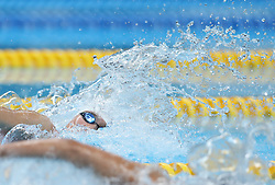 JAKARTA, Aug. 19,2018  Chinese swimmer Zhu Menghui competes in the women's 4x100m Freestyle Relay final of the 18th Asian Games in Jakarta, Indonesia, Aug. 19, 2018. (Credit Image: © Fei Maohua/Xinhua via ZUMA Wire)