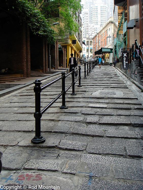 Pottinger Street in Hong Kong.