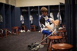 31 May 2010: Duke Blue Devils midfielder Sam Solie (23) before playing the Notre Dame Irish in the NCAA Lacrosse Championship at M&T Bank Stadium in Baltimore, MD.  The Blue Devils would go on that day to win the national title.
