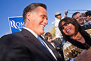 06 DECEMBER 2011 - PARADISE VALLEY, AZ: Mitt Romney works the crowd after speaking at Hermosa Inn Tuesday. Former Vice President Dan Quayle endorsed Republic Presidential hopeful Mitt Romney at the Hermosa Inn in Paradise Valley Tuesday.    PHOTO BY JACK KURTZ