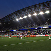 A panoramic view of Red Bull Arena as New York Red Bulls player Thierry Henry heads towards goal during the New York Red Bulls V Chivas USA Major League Soccer match at Red Bull Arena, Harrison, New Jersey, 23rd May 2012. Photo Tim Clayton