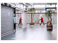 Danmark lukker ned pga af Corona-virus. Et af Danmarks største centre, Rødovre Centrum er sjældent affolket disse dage, da de fleste butikker er tvunget til at holde lukket.