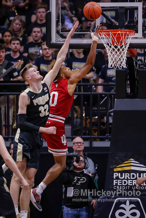 WEST LAFAYETTE, IN - JANUARY 19: Romeo Langford #0 of the Indiana Hoosiers shoots the ball as Matt Haarms #32 of the Purdue Boilermakers defends during the second half of the game at Mackey Arena on January 19, 2019 in West Lafayette, Indiana. (Photo by Michael Hickey/Getty Images) *** Local Caption *** Romeo Langford; Matt Haarms