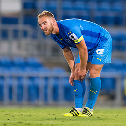 BRISBANE, AUSTRALIA - SEPTEMBER 20: Justyn McKay of Gold Coast City looks on during the Westfield FFA Cup Quarter Final match between Gold Coast City and South Melbourne on September 20, 2017 in Brisbane, Australia. (Photo by Gold Coast City FC / Patrick Kearney)