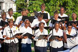Patrick U. George Post 90 Choir.  St. Thomas Veterans Day Parade. 11 November 2015.  Charlotte Amalie.  St. Thomas, USVI.  © Aisha-Zakiya Boyd