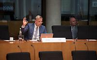 DEU, Deutschland, Germany, Berlin, 23.06.2021: Deutscher Bundestag, Sitzung des Wirtschaftsausschusses, Leif-Erik Holm, Alternative für Deutschland (AfD).