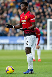 February 3, 2019 - Leicester, England, United Kingdom - Paul Pogba of Manchester United waiting to play the ball during the Premier League match between Leicester City and Manchester United at the King Power Stadium, Leicester on Sunday 3rd February 2019. (Credit Image: © Mi News/NurPhoto via ZUMA Press)