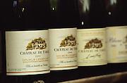 Bottles of Chateau de Targe 2001 of Edouard Pisani in Saumur Champigny, Maine et Loire France