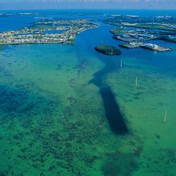Aerial photograph of Florida Keys