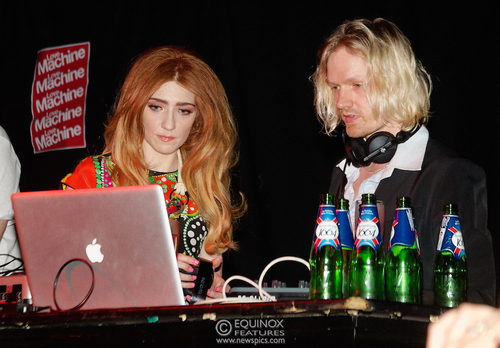 London, United Kingdom - 5 June 2011.Girls Aloud band member Nicola Roberts DJ'ing to launch her new single Beat Of My Drum at the Hoxton Square Bar and Kitchen, Shoreditch, London, England, UK. .Copyright: ©2011 Equinox Licensing Ltd. +448700 780000.Contact: Equinox Features.Date Taken: 20110605.Time Taken: 002423+0000.www.newspics.com