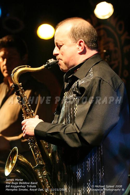 ROYAL OAK, MI, WEDNESDAY, NOV. 12, 2008: The Bugs Beddow Band, Bill Koggenhop Tribute, James Morse at Memphis Smoke, Royal Oak, MI, 11/12/2008. (Image Credit: Michael Spleet / 2SnapsUp Photography)