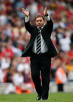 Photo: Steve Bond.<br />Arsenal v Derby County. The FA Barclays Premiership. 22/09/2007. Billy Davies salutes the travelling fans