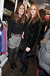 Left to right, FLORA HUGHES-ONSLOW and ELEANOR COOPER at the launch party for the Vicomte A boutique in London at 113 King's Road, London SW3 on 13th December 2012.