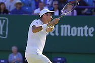 Mischa Zverev (GER) Vs Mikhail Kukushkin (KAZ) Action at the Nature Valley International at Devonshire Park, Eastbourne, United Kingdom on 29th June 2018. Picture by Jonathan Dunville.